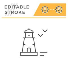 lighthouse editable stroke line icon vector image