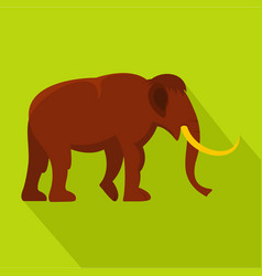 Mammoth icon flat style vector