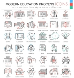 Modern education e learning process color vector image
