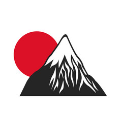 Mount fuji sun japan landscape natural image vector