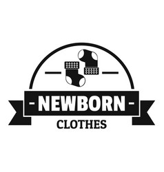 newborn clothes logo simple black style vector image
