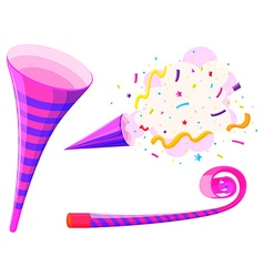 Party horn and musical straw vector