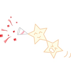 Party popper stars vector