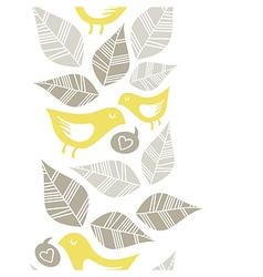 Pastel bird print patterns vector image