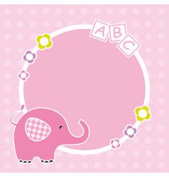 Pink elephant framework vector