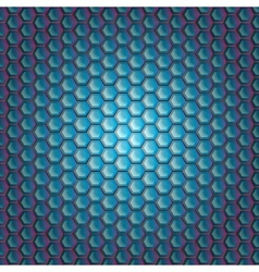 Realistic hexagonal grid background vector image