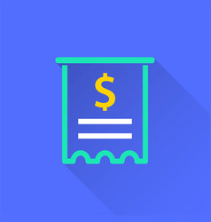 receipt - icon for graphic and web design vector image