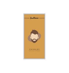 Retro true gentleman hipster chivalry theme flyer vector