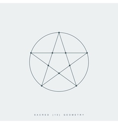 sacred geometry pentagram vector image