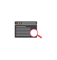 search result symbol seo browser magnifier vector image