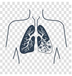 silhouette of lung disease vector image