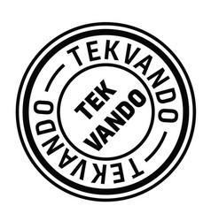 Taekwondo stamp in turkish vector