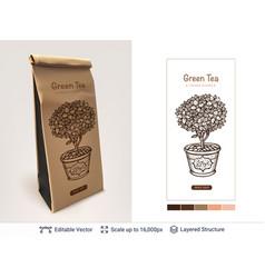 Tea package design vector