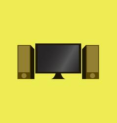 Technology gadget in flat design computer speakers vector