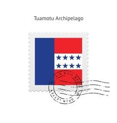 Tuamotu Archipelago Flag Postage Stamp vector