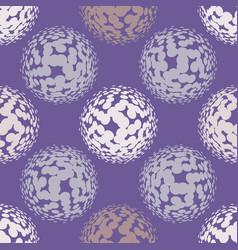 ultra violet halftone circles seamless pattern vector image