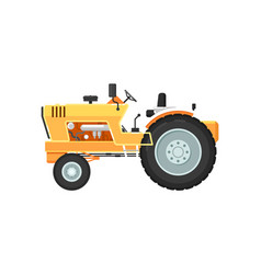 Vintage farm tractor isolated vector