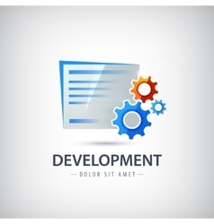 Wed design development logo icon with vector image