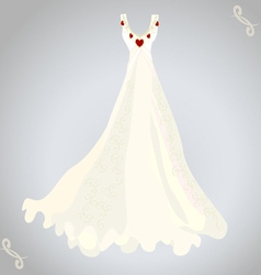 Wedding dress and necklace vector