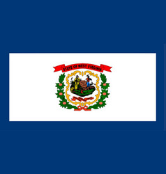 West virginia state flag vector