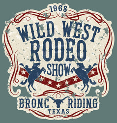 wild west rodeo horse show vector image