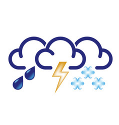 all bad weather icon vector image