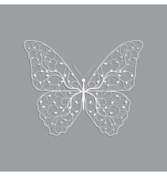 Beautiful paper butterfly with floral pattern vector image vector image