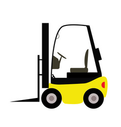 fork lift truck in trendy flat style isolated on vector image
