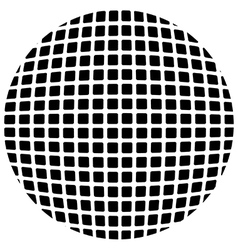 Globe of squares vector image