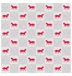 Happy new year red horse seamless pattern vector image vector image