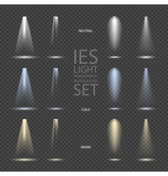 Light Effect Spotlight with Transparent vector image vector image