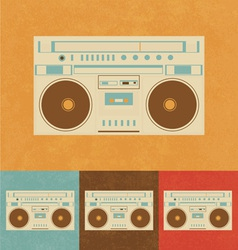 Retro Icons - Old Radio vector image
