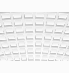 abstract white tech paper squares background vector image vector image
