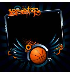 basketball banner vector image vector image