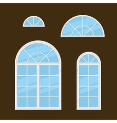 Flat Style Windows Types Set vector image vector image