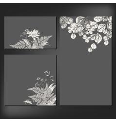 floral card set vector image