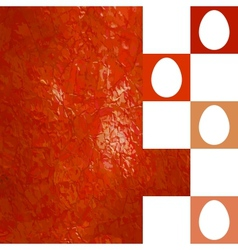 Modern red Easter background EPS 8 vector image