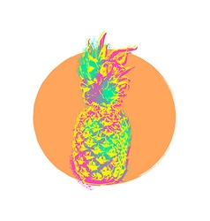 Pineapple fruit colorful art design for summer vector image vector image