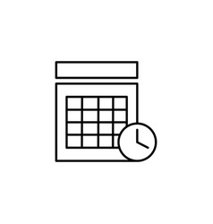 timed calendar event icon vector image vector image