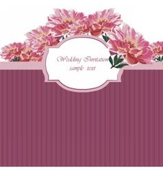 Vintage Watercolor Spring peonies flower card vector image vector image