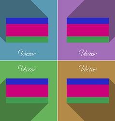 Flags Kuban Republic Set of colors flat design and vector image