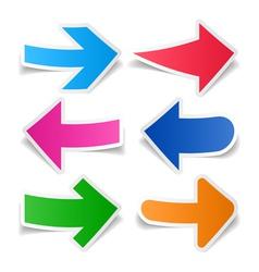 Paper arrows set vector image vector image