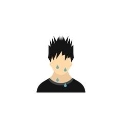 Sweaty man icon in flat style vector