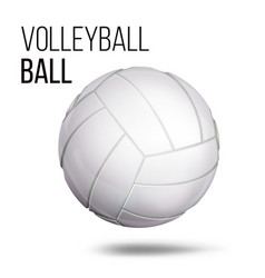 white volleyball ball isolated realistic vector image