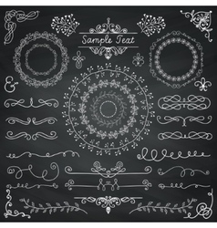 Chalk Drawing Doodle Design Elements vector image