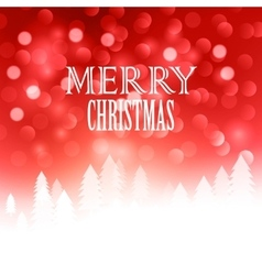 Christmas text design on bokeh background vector image