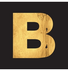 Letter B of the English alphabet vector image