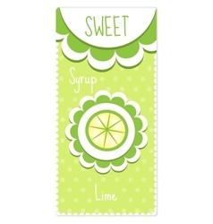 Sweet fruit labels for drinks syrup jam Lime vector image vector image