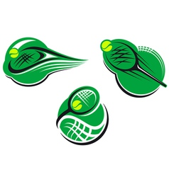 Tennis sports icons vector image