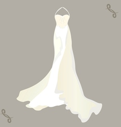 wedding dress with a cape vector image